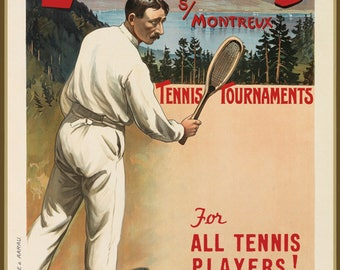 """Wall Calendar 2018 (12 pages 8""""x11""""/A4) Tennis Vintage Sport Ads Poster M581"""