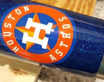 20 oz Houston Astros stainless steel tumbler, Houston Astros coffee mug, Houston Astros travel mug