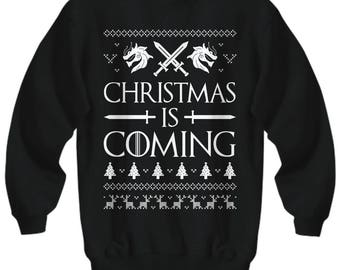 Christmas Is Coming, Game Of Thrones Christmas Sweater, Game Of Thrones, Ugly Xmas Sweater, Winter Is Coming, Game Of Thrones Xmas, Jon Snow