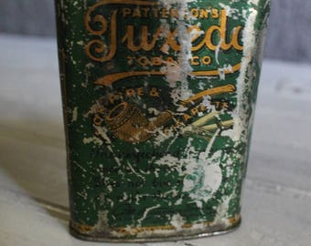 Green Tuxedo Tobacco Tin (Faded)
