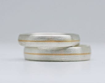 Trauringe Silber & Gold