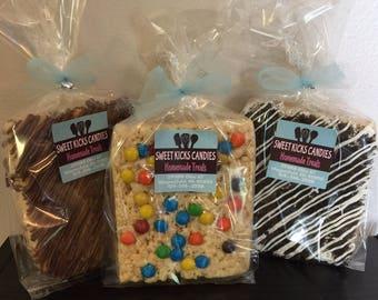 Jumbo Rice Krispie Treats 3 pack! Cookies & Cream, Chocolate Peanut Butter Buckeye, M and M