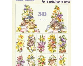 Paper sheets 3D decoupage, collage, cardmaking Easter 646