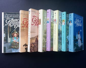 Anne of Green Gables - complete paperback series, vintage books 1-8 by L.M. Montgomery
