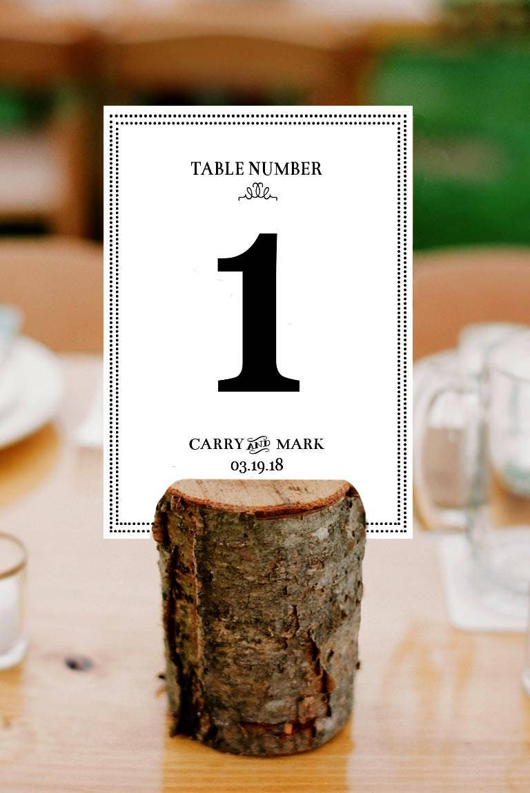 wedding table numners/ custom place cards/ wedding favors/ rustic ...