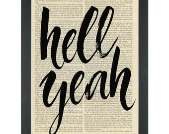 Hell Yeah Dictionary Art Print