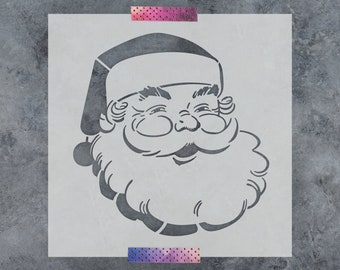 Santa Claus Stencil - Reusable DIY Craft Stencils of Santa Claus