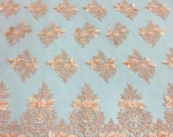 Lace Fabric/3D Beaded Lace Fabric