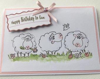 Happy Birthday to Ewe - Birthday Card - humour