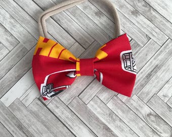 Kansas City chiefs bows - bows for girls - chiefs bow ties - hair accessories- baby gifts - kansas bow