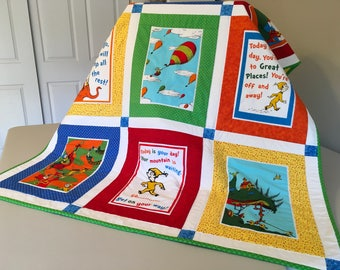 Dr Seuss Oh The Places You'll Go Quilt