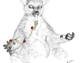 Lemur Meditation Print