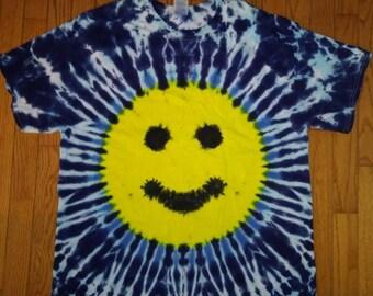 XL Smiley face tie dye t-shirt