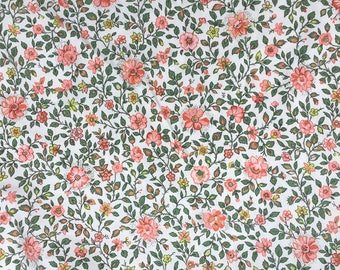 Vintage Sanderson Fabric Dimity Cotton. Dates from 1960s 1970s. Floral. Quintessentially English. 1.2 M wide, Price Per Metre.