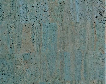 Cork Fabric (US Supplier) - Blue - Vegan - Eco-Friendly Leather Alternative