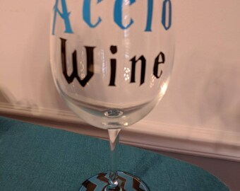 Ravenclaw Wine Glass