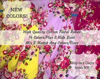 Sale! Bridesmaid Robe Set of 10, Ten Floral Bridesmaid Robes, Bridesmaid Gift, Bride Robe, Floral robes, Bridesmaid Robe