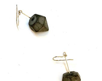 925 Silver earrings and diamond concrete