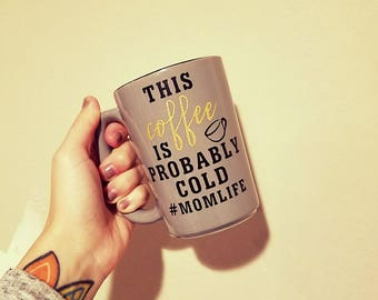 This coffee is probably cold // #momlife