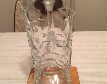 Glass Cowboy/ Cowgirl Boot Beer Mug