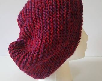 Red and Purple Beret Beanie