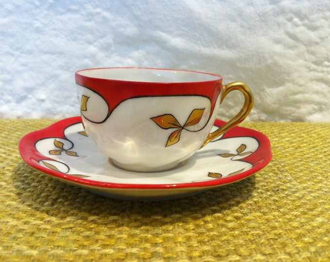 Vintage espresso Mocha coffee coffee cup cup Mathes & Ebel in Mäbendorf handpainted porcelain porcelain ceramic builds