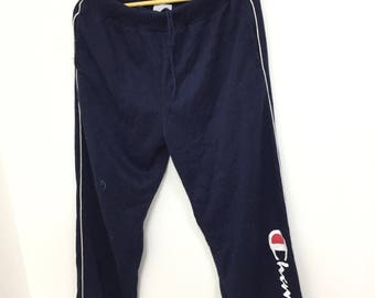 Rare Vintage Champion Jogger Pants /Track Pants Big Logo Spell Out /Hip Hop /Swag/ Skater Size (30-36)