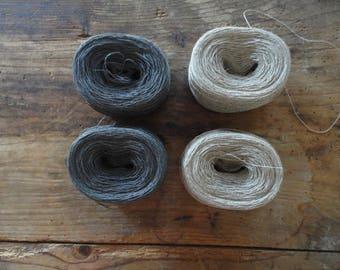 LINEN yarn _ natural yarn for crochet, knitting