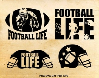 Football life svg, Football svg files, Football clipart, Heat transfer designs, Football helmet svg, Files for Cricut, Files for Silhouette