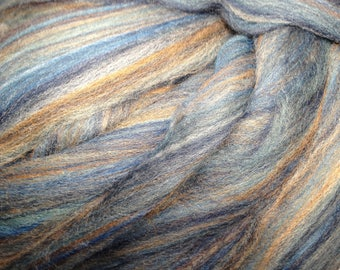 Denim - Multi Colored Merino Roving - DISCONTINUED