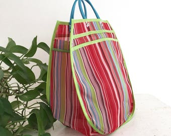 XL tote bag - striped red/Colors