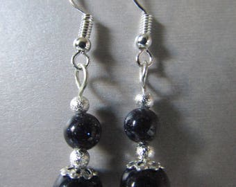 Sterling Silver Semi Precious Blue Moon Goldstone & Stardust Earrings Sparkly and Gorgeous!!