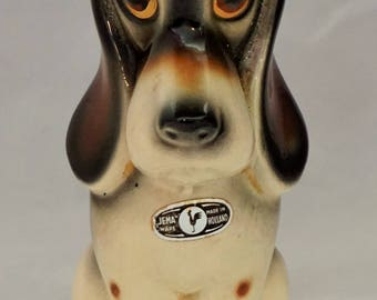 JEMA Holland 924 comical pottery Art Deco 1950s dog figurine Great condition still got label