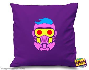 Star-Lord Guardians of the Galaxy - Purple Pillow/Cushion Cover - Baby Groot -Peter Quill -Chris Pratt-Rocket Racoon-Yondo-Gamora-Nebula