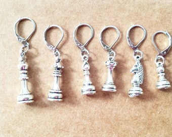 Chess Stitch Markers// Progress Keepers// Knitting Marker