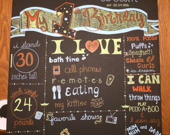 Foam board chalkboard signs