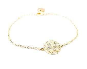 Panda silver 18 k gold plated bracelet