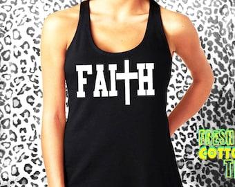 Faith- tank top womens tank cotton shirt