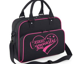Personalised Name Gymnastic Bag Childrens Gym Bags Back To School Gifts