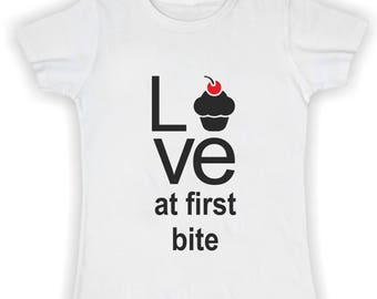 T shirt basic donna love at first bite