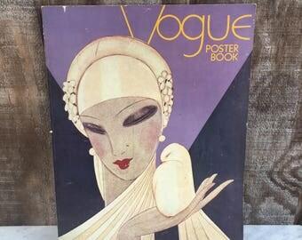 Vogue Poster Book // 22 Vintage Vogue Cover Posters // Condé Nast // Art Deco Decor // 1975