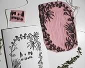 Custom Stamp // Botanical Frame // Floral // Handmade //