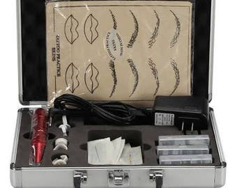 Professional Tattoo Kit Eyebrow Lip Eyeline Machine Permanent Makeup Equipment Suit