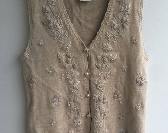 Vintage Button Up Vest