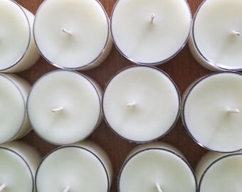 Set Of 500 Unscented Soy Tea Light Candles
