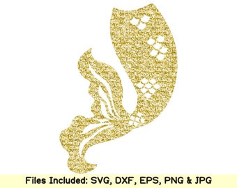 Mermaid tail svg files for cricut silhouette little mermaid life svg shirt cake topper clipart mug birthday party decor design dxf cut files