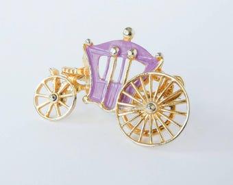 Vintage jewellery. Vintage brooch. Hollywood Brooch. Cinderella brooch. Vintage Cinderella. Vintage jewelry. Disney inspired.