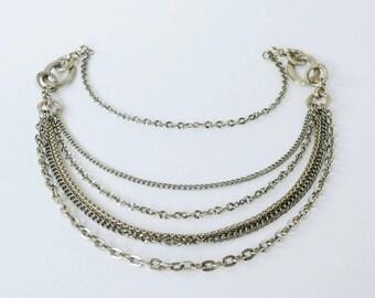 Vintage jewellery.Statement chain necklace. Multiple chains necklace. Vintage jewelry. Statement jewelry. Retro. Statement necklace.