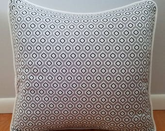 Raindrop Grey, Black and White 18x18 Decorative Throw Pillow Cover, toss pillow, bedroom decor, cushion cover, sofa cushion
