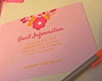 Pretty In Pink Enclosure Cards